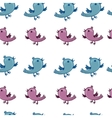 pattern with blue and pink birds are singing vector image vector image