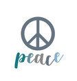 peace- the symbol of peace vector image