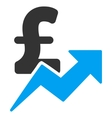 Pound Sales Growth Flat Icon Symbol vector image vector image