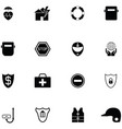 safety icon set vector image