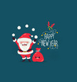 santa congratulates on new year vector image