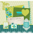 Scrapbook Design Elements - Blue Flowers vector image vector image