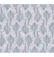 seamless pattern with seashells on a gray vector image