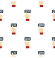 send button and hand pattern flat vector image vector image