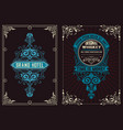 set 2 labels western style vector image vector image