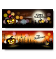 set of halloween spooky banners vector image