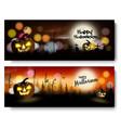 set of halloween spooky banners vector image vector image
