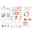 set of most useful infographic elements - bar vector image vector image