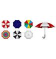 set realistic umbrella in various type vector image vector image