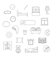 Sleep thin lined icon vector image vector image