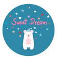 sleeping little beer sweet dreams vector image