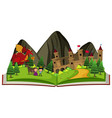 storybook with dragon at the castle vector image