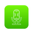 studio microphone icon green vector image vector image