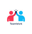 teamwork concept logo team work icon on white vector image