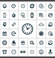 time icons universal set for web and ui vector image