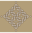 viking decoration knot - engraved - chained vector image vector image