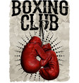 vintage boxing gloves template for print t-shirt vector image