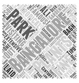 Visiting Bangalore Word Cloud Concept vector image vector image