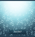 water droplets or bubbles on blue background vector image vector image