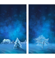 Watercolor Winter Night Banners vector image vector image