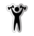 weight lifting athlete silhouette vector image vector image