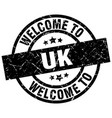 welcome to uk black stamp vector image vector image
