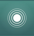 white concentric rings epicenter theme simple vector image vector image