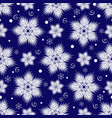 winter seamless christmas dark blue pattern with vector image vector image