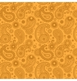 Yellow color arabic paisley pattern vector image vector image