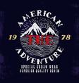 The American AdventurePrint design vector image