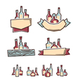 Alcohol labels vector image
