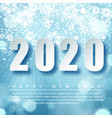 2020 blue christmas typography design winter vector image vector image