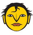 a human face vector image vector image