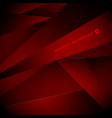 abstract red and black gradient geometric vector image vector image