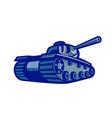 american world war two battle tank retro vector image vector image