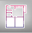apartment house floor plans purple vector image vector image