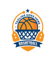 basketball emblem logo design vector image