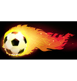Burning ball vector image