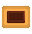 butter biscuit icon flat style vector image vector image
