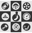 Car icon set vector image vector image