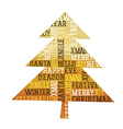 Christmas Tree gold foil Happy Merry Christmas