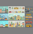 city life and transportation infographic elements vector image vector image