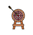 colorful silhouette of arrow on target vector image vector image