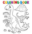 coloring book dinosaur subject image 3 vector image vector image