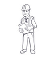 construction manager vector image vector image