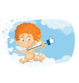 Cupid Thumb Up Cartoon vector image vector image
