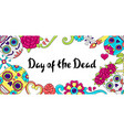 day dead invitation card sugar skulls with vector image vector image