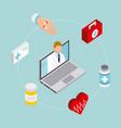 digital health concept vector image vector image