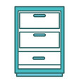 drawer house isolated icon vector image vector image