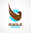 Eagle wing and head logo template vector image vector image